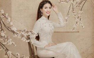 Ngôi sao - Top 5 Hoa hậu Việt Nam Mơ Phan e ấp trong bộ ảnh đón Tết Mậu Tuất