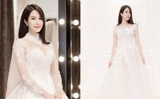 Ngôi sao - Cận kề hôn lễ, Diệp Lâm Anh tung ảnh thử váy cưới đẹp nao lòng