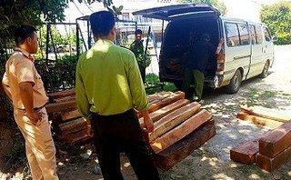 An ninh - Hình sự - Bắt giữ ô tô chở 179 lóng gỗ lậu