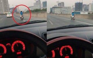 Xa lộ - Phớt lờ biển cấm, 'Ninja Lead' phóng hơn 80km/h trên đường vành đai 3