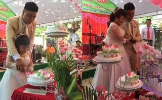 Mới- nóng - Clip: Đám cưới của cô dâu 'tí hon' và chú rể 'khổng lồ' gây sốt mạng