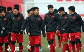 Bóng đá Việt Nam - [Chùm ảnh] U23 Việt Nam thoải mái tập luyện trước trận gặp U23 Qatar