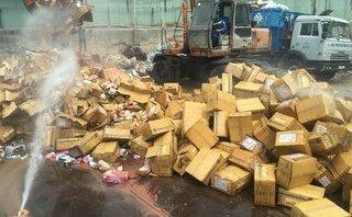 Tin nhanh - Gần 7 tỷ đồng hàng gian, hàng giả, hàng lậu, thuốc lá bị  tiêu hủy