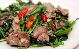 Gia đình - Món ngon mỗi ngày: Thịt bò xào rau muống ngon đúng điệu