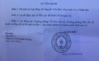 An ninh - Hình sự - Sóc Trăng: Cảnh cáo Trưởng Công an huyện Kế Sách