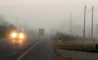 Tin nhanh - Sóc Trăng: Xuất hiện sương mù dày đặc, nguy cơ cao về TNGT
