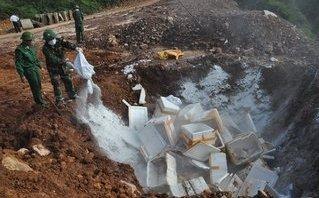 Chính trị - Xã hội - Quảng Ninh: Thu giữ và tiêu hủy hơn 1 tấn cá khoai bốc mùi hôi thối