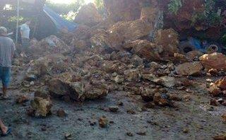 Chính trị - Xã hội - Hải Phòng: Sạt lở núi, hơn 40 khối đất đá chôn vùi lán trại