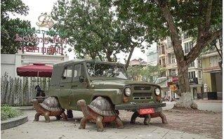 Ngỡ ngàng bộ đôi xe UAZ, Ural dẫn động bằng... rùa tại Việt Nam