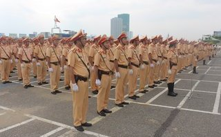 An ninh - Hình sự - Đà Nẵng: Gần 1.000 chiến sỹ CSGT ra quân sẵn sàng phục vụ APEC