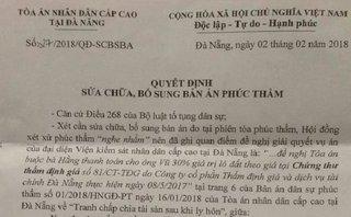 Góc nhìn luật gia - Đà Nẵng: Bi hài tòa phải sửa bản án vì … nghe nhầm