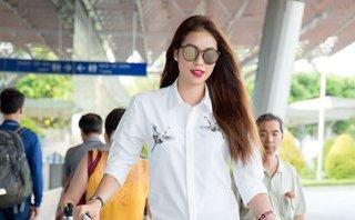 Giải trí - Hoa hậu Phạm Hương vẫn quyến rũ chết người dù diện sơ mi trắng