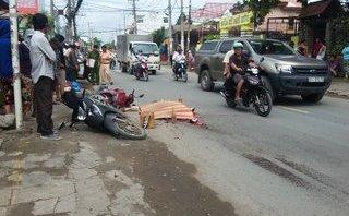 Chính trị - Xã hội - Chặn xe container cán chết người đi xe máy rồi bỏ chạy