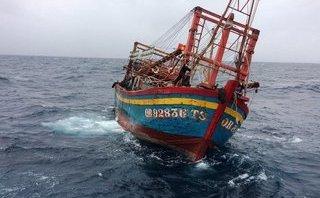 Xã hội - 15 giờ vượt sóng to, gió lớn tìm kiếm 9 ngư dân gặp nạn trên biển