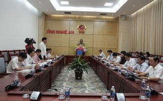 Chính trị - Xã hội - Đảng đoàn Hội Luật gia Việt Nam làm việc với tỉnh ủy và UBND Nghệ An