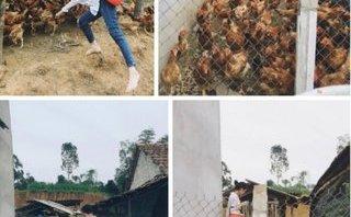 Đời sống - Sự thật sau hình ảnh thiếu nữ xinh như hot girl chui vào chuồng cho gà ăn
