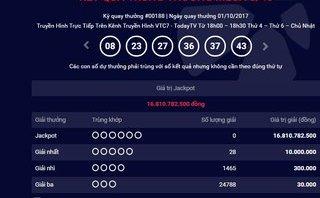 Tiêu dùng & Dư luận - Kết quả xổ số Vietlott ngày 1/10: Jackpot đã chạm mốc 16,8 tỷ đồng