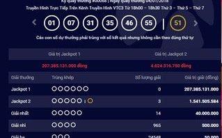 Tiêu dùng & Dư luận - Kết quả xổ số Vietlott ngày 4/1: Jackpot 207 tỷ chưa người nhận