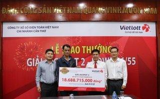 Tưởng trúng 40 triệu hóa ra trúng Vietlott Jackpot 2 hơn 18 tỷ đồng
