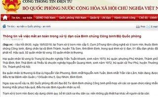 Chính trị - Thông tin chính thức vụ nổ đạn pháo, 5 quân nhân thương vong