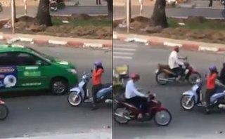 Sau vô lăng - 'Ninja' Việt hồn nhiên dừng xe giữa đường ngược chiều nghe điện thoại