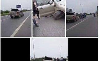 Video xe - [VIDEO] Sau khi gây tai nạn Ford Ranger tháo chạy chỉ với... 3 bánh xe