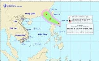 Chính trị - Xã hội - Áp thấp gần Biển Đông khả năng mạnh lên thành bão