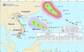 Chính trị - Xã hội - Tin thời tiết mới nhất: Áp thấp nhiệt đới mạnh thành bão