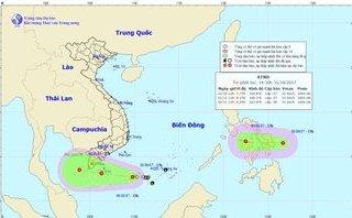 Tin nhanh -  Xuất hiện 2 áp thấp nhiệt đới, Nam Bộ đề phòng triều cường