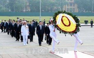 Chính trị - Tổng Bí thư, Chủ tịch Trung Quốc Tập Cận Bình viếng Lăng Chủ tịch Hồ Chí Minh
