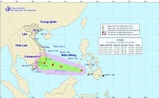 Tin nhanh - Áp thấp nhiệt đới khả năng mạnh thành bão, tiến vào Nam Bộ