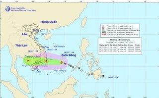 Tin nhanh - Bão số 14 suy yếu thành áp thấp nhiệt đới, đi vào Khánh