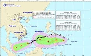 Tin nhanh - Bão số 15 chưa tan, bão Tembin giật cấp 11 sắp đổ bộ