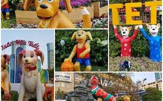 Văn hoá - Thích thú trước muôn kiểu trang trí linh vật xuân Mậu Tuất tại đường hoa Nguyễn Huệ