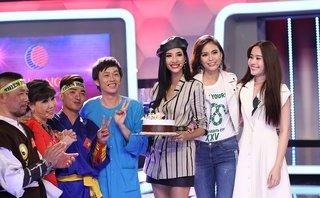 TV Show - NSƯT Hoài Linh và Việt Hương chúc mừng sinh nhật Á hậu Hoàng Thùy