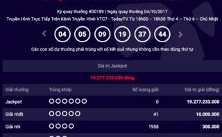Tiêu dùng & Dư luận - Kết quả xổ số Vietlott ngày 4/10: Hơn 19 tỷ đồng vô chủ