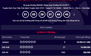 Tiêu dùng & Dư luận - Kết quả xổ số Vietlott ngày 29/10: Jackpot cán mốc 24 tỷ đồng