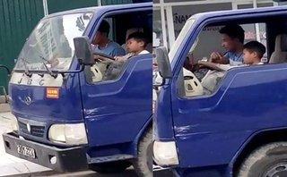 An ninh - Hình sự - Ủy ban ATGT Quốc gia yêu cầu xác minh bé trai 10 tuổi điều khiển xe tải