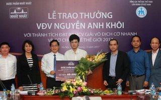 Đầu tư - Kỳ thủ Nguyễn Anh Khôi được DP Nhất Nhất đầu tư phát triển tài năng