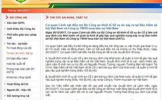 Hồ sơ điều tra - Khởi tố 2 vụ án xảy ra tại Bảo hiểm xã hội Việt Nam và công ty TNHH mua bán nợ Việt Nam