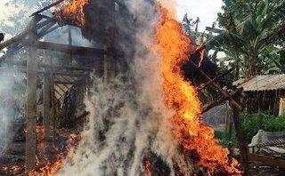 Xã hội - Nhà cháy trụi, một hộ nghèo đắng cay trong dịp Tết