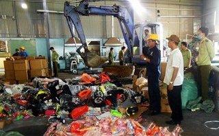 Xã hội - Bình Dương: Tiêu huỷ hơn 50.000 loại hàng hoá không rõ nguồn gốc