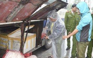 An ninh - Hình sự - Chặn đứng chiếc xe khách chở 200kg da heo thối đi tiêu thụ