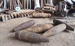 An ninh - Hình sự - Phát hiện số lượng đạn, vỏ đạn pháo  'khủng'  trong cơ sở phế liệu