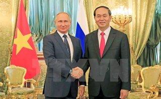 Tin tức - Chính trị - Chủ tịch nước Trần Đại Quang gặp song phương Tổng thống Nga Putin