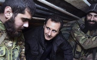 Quân sự - Tổng thống Syria Assad bất ngờ xuất hiện ở Ghouta: Dự báo ngày thắng trận