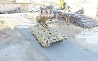 """Quân sự - Xem """"quái vật tên lửa"""" Golan-1000 mới của Syria phô diễn sức mạnh"""