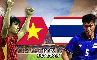 Thể thao - Trực tiếp U22 Việt Nam - U22 Thái Lan: Tuấn Tài đá chính