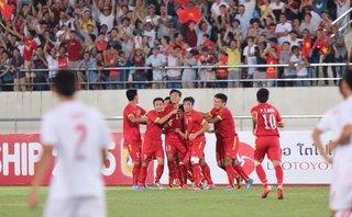 Bóng đá Việt Nam - Clip: U19 Việt Nam thắng đậm U19 Lào, thẳng tiến VCK U19 châu Á