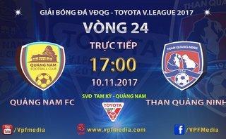 Bóng đá Việt Nam - Trực tiếp Quảng Nam - T.Quảng Ninh: Phải thắng để vô địch